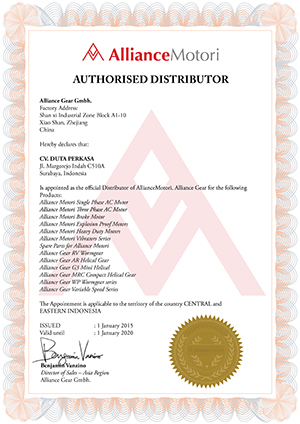Alliance Motori Authorised Distributor