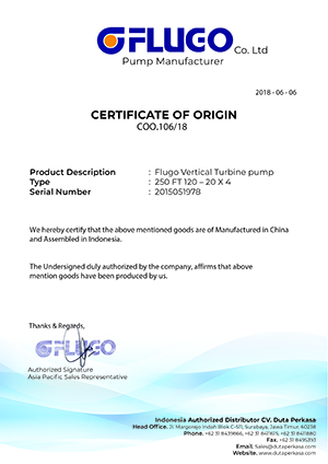 Flugo Certificate Of Origin
